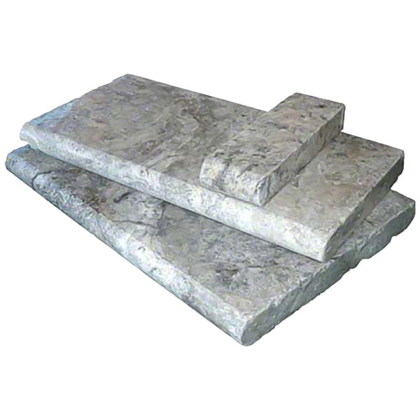 Margelles travertin silver grise