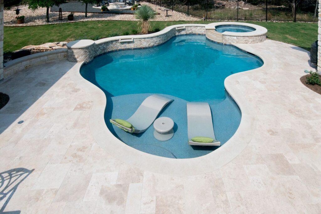 travertin piscine